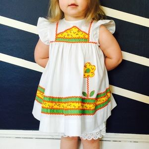 Vintage dress with matching bloomers